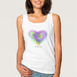 Heart shaped colorful pattern tank top