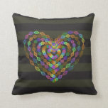 Heart shaped colorful pattern. throw pillow