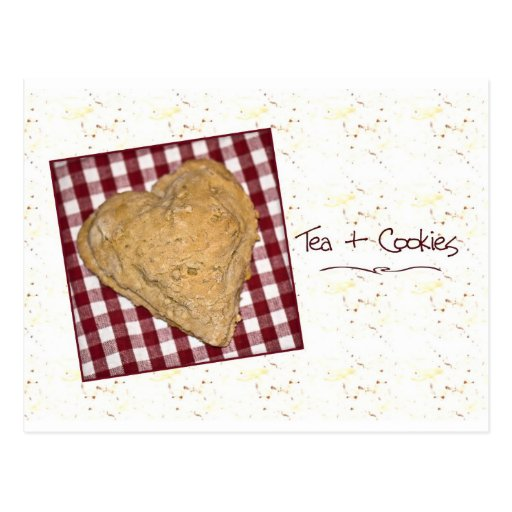 Heart Shaped Cookie Card Postcard