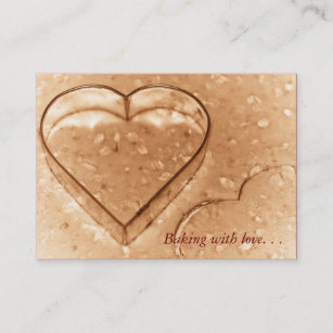 Heart shaped business cards zazzle heart shaped cookie cutter baking business cards colourmoves