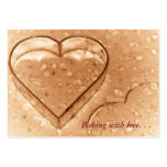 Heart Shaped Cookie Cutter - Baking Business Cards