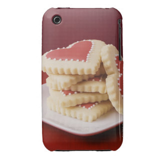 Heart Shaped Cookies on a Dish Case-Mate iPhone 3 Cases