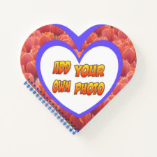 Heart Shaped Cust. Photo Tulips Notebook