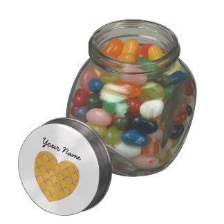Heart Shaped Custom Baseball Bat Pattern Jelly Belly Candy Jar
