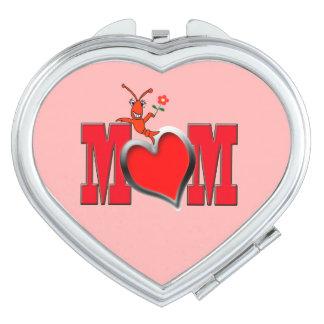 Heart Shaped Cute Crawfish Mom Vanity Mirror