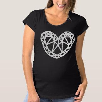 heart shaped diamond maternity T-Shirt