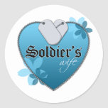 Heart Shaped Dog Tags Classic Round Sticker