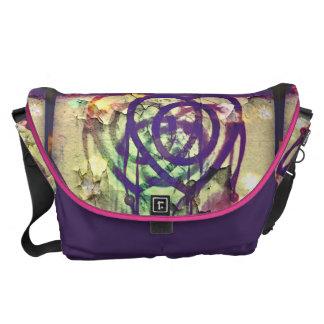 Heart Shaped Dream Catcher Messenger Bag