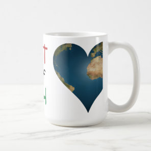 Heart Shaped Earth anagram Coffee Mug