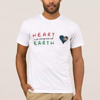 Heart shaped Earth anagram love T-Shirt