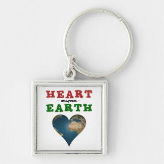 Heart shaped Earth Keychain