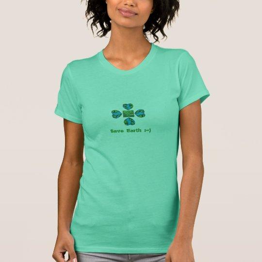 Heart Shaped Earth Logo T-Shirt