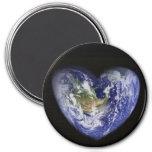 Heart-Shaped Earth Magnet