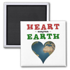 Heart shaped Earth Magnet