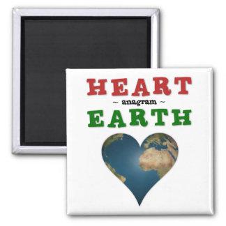 Heart shaped Earth Magnet