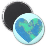 Heart-Shaped Earth Magnets Refrigerator Magnets