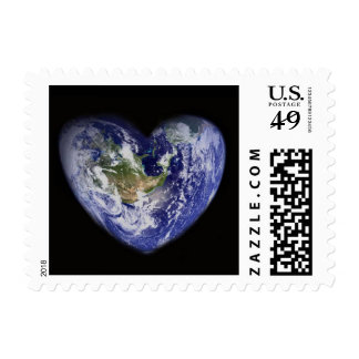 Heart-Shaped Earth Postage