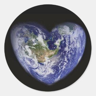 Heart-Shaped Earth Sticker