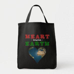 Heart shaped Earth Tote Bag