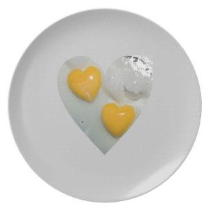 Heart Shaped Egg Dinner Plate  sc 1 st  Zazzle & Egg Shape Plates   Zazzle