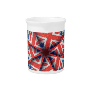 Heart Shaped England Flag Pattern Design Drink Pitchers