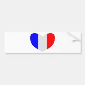 Heart Shaped Flag of France Bumper Sticker