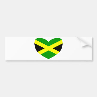 Heart Shaped Flag of Jamaica Bumper Sticker