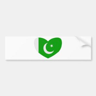 Heart Shaped Flag of Pakistan Bumper Sticker