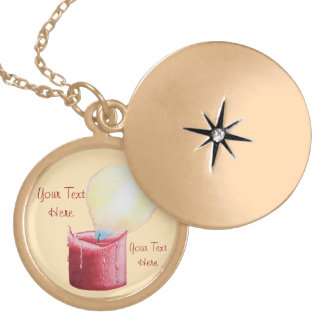 heart shaped flame romantic candle design gold plated necklace