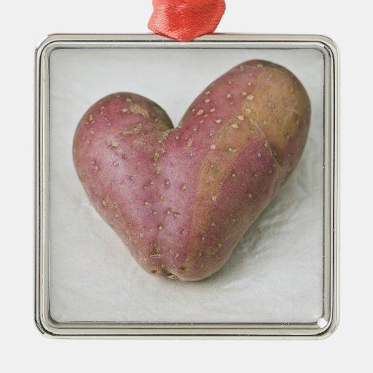 Heart-shaped Francine potato Metal Ornament