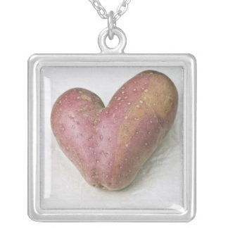 Heart-shaped Francine potato Square Pendant Necklace