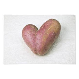 Heart-shaped Francine potato Photographic Print