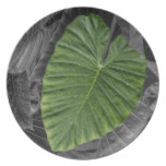 Heart Shaped Green Leaf Dinner Plate
