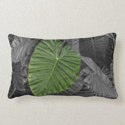 Heart Shaped Green Leaf Throw Pillows
