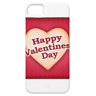 Heart Shaped Happy Valentine Day Text Design iPhone SE/5/5s Case