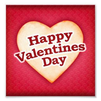 Heart Shaped Happy Valentine Day Text Design Photo Print