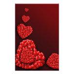 Heart shaped Hearts Custom Stationery
