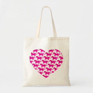 Heart Shaped Horse Pattern Canvas Bags