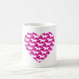 Heart Shaped Horse Pattern Coffee Mug