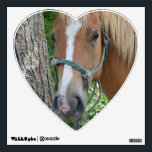 """Heart-shaped Horse Wall Decal<br><div class=""""desc"""">Show off your love of horses with  a Heart-shaped Horse Wall Decal</div>"""