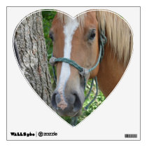 Heart-shaped Horse Wall Decal