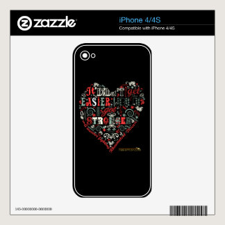 Heart-shaped I got Stronger iPhone 4S Decals