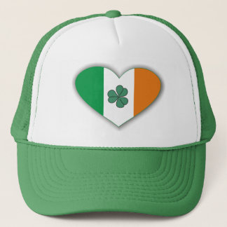 Heart Shaped Ireland Flag and Small Clover Hats