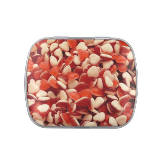 Heart shaped jelly beans jelly belly candy tins