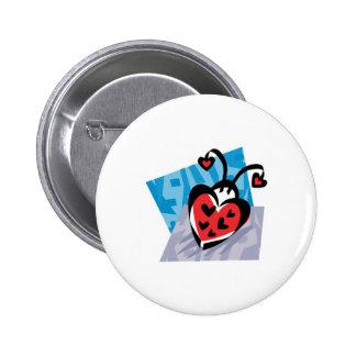heart shaped ladybug button