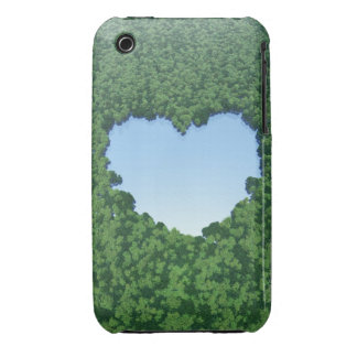 Heart-Shaped Lake Case-Mate iPhone 3 Case