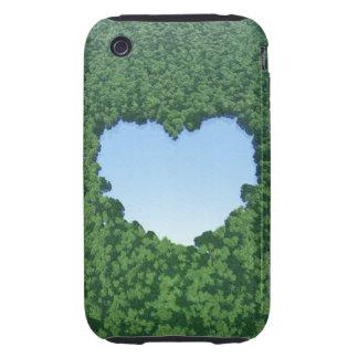 Heart-Shaped Lake iPhone 3 Tough Cover