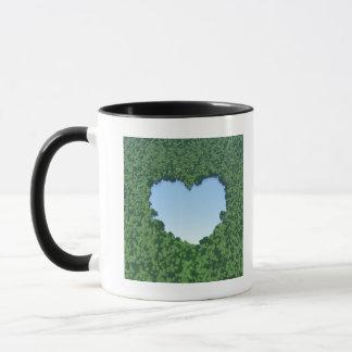 Heart-Shaped Lake Mug