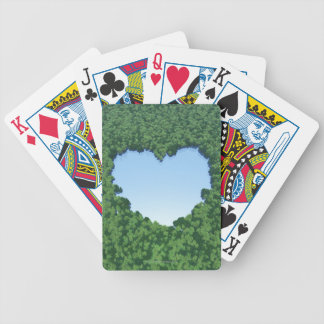 Heart-Shaped Lake Bicycle Playing Cards
