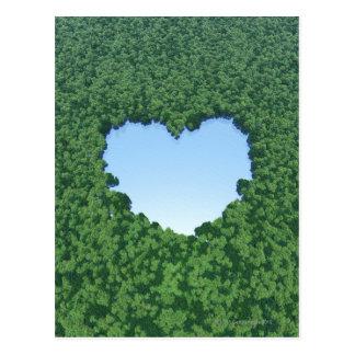 Heart-Shaped Lake Postcard
